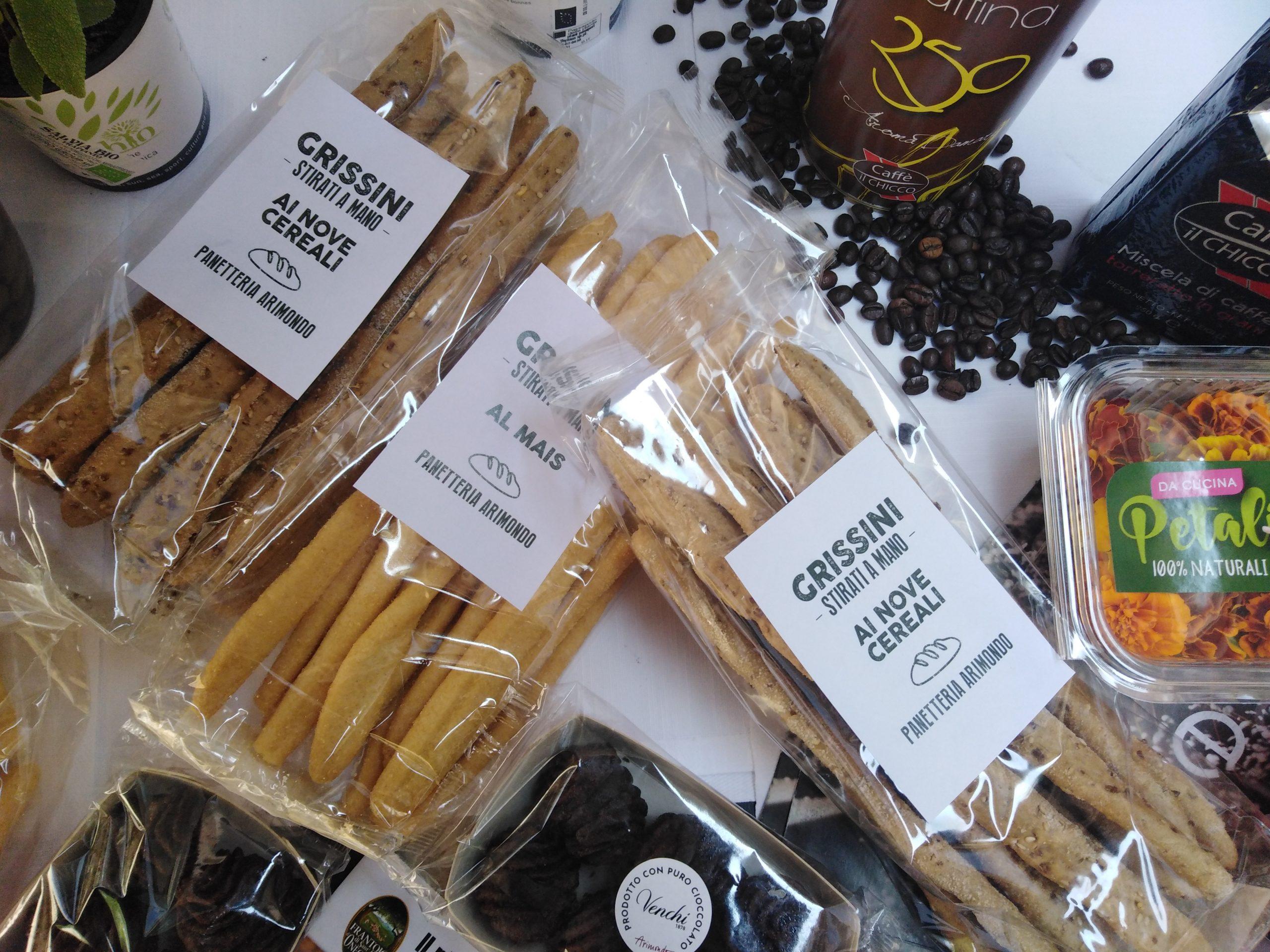 prodotti grissini caffè baci di Diano